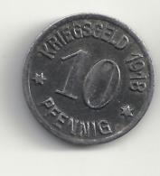 10 Pfennig 1918 Koblenz. - [ 3] 1918-1933 : Weimar Republic