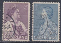 Pays-Bas N° 263 / 64 O Pour Les Oeuvres De Bienfaisance Les 2 Valeurs Oblitérations Moyennes  Sinon TB - Usati