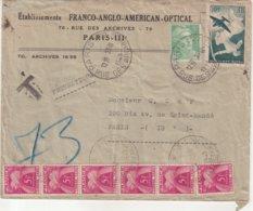 FRANCE : TYPE GANDON . PNEUMATIQUE . TAXE A 30F . 1949 . - Postmark Collection (Covers)