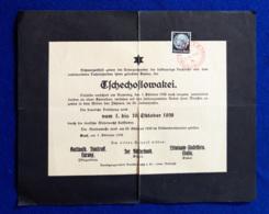 Germania Reich Volantino Di Propaganda / Propaganda Flyer 3/10/1938 VF/F - Allemagne
