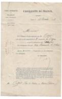 """Pharmacie: Nomination Pharmacien De 1ere Classe  1883  Nevers         """" école Supérieure De Pharmacie"""" - Vieux Papiers"""