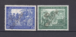 Sowjetische Zone - 1948 - Bezirksstempel-Aufdrucke - Leipziger Messe - Ungebr. - Sowjetische Zone (SBZ)