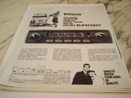 ANCIENNE  PUBLICITE AUTORADIO BLAUPUNKT BOSCH 1966 - Other