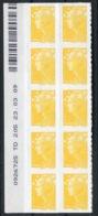 RC 14006 FRANCE N° 208 MARIANNE DE BEAUJARD COIN DATÉ AUTOADHÉSIF TB NEUF ** - Frankreich