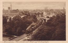 Mannheim * Rheinbrücke Mit Blick Auf Ludwigshafen, Eisenbahn, Zug, Stadtteil * AK1109 - Mannheim