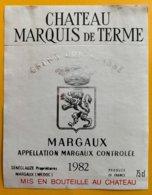 11718 - Château Marquis De Terme 1982 Margaux - Bordeaux