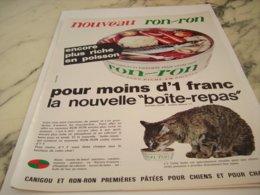 ANCIENNE PUBLICITE UN BONHEUR DE CHAT BOITE RON RON 1966 - Pubblicitari