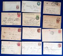 Gran Bretagna 18 Postal Cards / Letters Various Period VF/F - Interi Postali