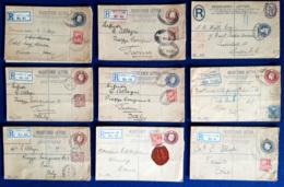Gran Bretagna 1895/1920 16 Registered Letter VF/F - Interi Postali