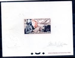 Prueba Firmada Afrique Equatorial Francesa Pierre Savorgnan De Brazza. - A.E.F. (1936-1958)