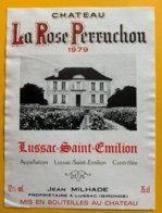 11722 - Château La Rose Perruchon 1979 Lussac-Saint Emilion - Bordeaux