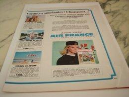 ANCIENNE PUBLICITE SOURIRE DU MONDE ET  AIR FRANCE 1966 - Advertisements