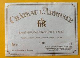 11723 - Château L' Arrosée 1981 Saint Emilion - Bordeaux