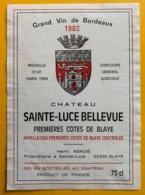 11724 - Château Sainte-Luce Bellevue 1982 - Bordeaux