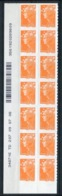 RC 14016 FRANCE N° 215 MARIANNE DE BEAUJARD COIN DATÉ AUTOADHÉSIF COTE 56€ NEUF ** - Frankreich