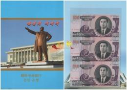 Korea 2006 5000won UNC 3sheets With Folder - Korea, Noord