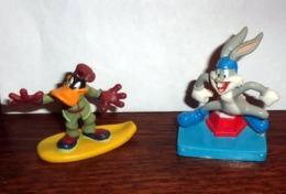 Lot De 2 Figurines Publicitaires Weetos : Bugs Bunny Et Donald Duck - Figurines