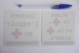 Autocollant Stickers - CROIX ROUGE - RED CROSS - Lot D'autocollants - Autocollants