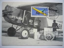 Avion / Airplane / LUFTHANSA / Fokker F III / Carte Maximum - 1946-....: Modern Era