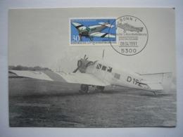 Avion / Airplane / LUFTHANSA /Junkers F 13 / Carte Maximum - 1946-....: Era Moderna