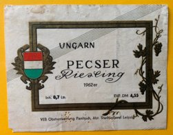 11733 - Pescer Riesling 1962 Hongrie - Etichette