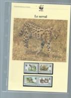 Burundi - 1992 WWF Serval ** Ensemble Complet 10 Scans   -  Car 120 - W.W.F.