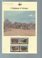 Uganda 1983 WWF - African Elephant Animal Wild Life Fauna Sc 371-774  Ensemble Complet 10 Scans   -  Car 124 - W.W.F.