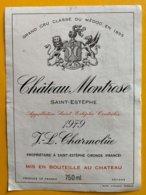 11735 - Château Montrose 1979 Saint-Estèphe - Bordeaux