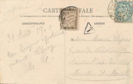 DIJON - 1905 , AK Nach Saint Nicolas Du Port - Nachporto - Portomarken