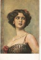 """""Kaulbach. Portrait Of A Lady"" Fine Painting, Vintage Postcard - Women"