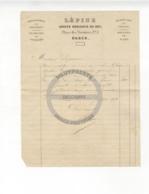 /!\ 1426 - Parchemin - 1856 - Paris - Facture : Lépine, Horloger Du Roi - Manoscritti