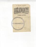 /!\ 1428 - Parchemin - 1840 - Paris - Facture : A La Botte Francaise Thonnerieux - Manoscritti