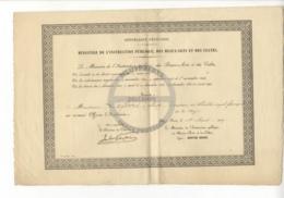/!\ 1430 - Diplome - 1907 - Paris - Nomination Officier D'académie - Diplomi E Pagelle