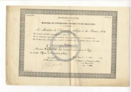 /!\ 1431 - Diplome - 1911 - Paris - Nomination Officier De L'instruction Publique - Diplomi E Pagelle