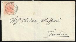 1852 - 15 Cent. Rosso Vermiglio, I Tipo, Carta A Coste Verticali (14), Perfetto, Su Sovracoperta Di ... - Lombardo-Vénétie