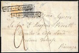 1850 - 5 Cent. Giallo Arancio E 10 Cent. Grigio Nero, Entrambi I Tiratura (1d,2b), Perfetti, Su Lett... - Lombardo-Vénétie