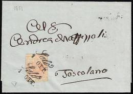 """1851 - 15 Cent. Rosa, II Tipo, Carta A Mano (5), Ritagliato Lungo I Margini """"lilliput"""" Riutilizzato ... - Lombardo-Vénétie"""