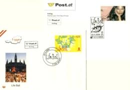 7239  SIDA, Mode: 2 Env. 1er Jour D'Autriche, 2004/06 - Vienna Life Ball:FDCs From Austria. AIDS Fashion - Krankheiten