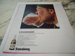 ANCIENNE PUBLICITE AMSTERDAM LA BIERE 1664  KRONENBOURG 1966 - Alcohols