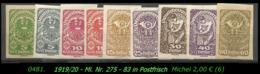 Österreich - Aus Mi. Nr. 275 - 83 -  In Postfrisch - 1850-1918 Imperium