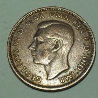 1943 - Grande Bretagne - Great Britain - HALF PENNY, GEORGE VI, KM 844 - 1902-1971 : Monete Post-Vittoriane