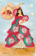 B 2737 -  Andalusia, Cartolina Ricamata Danza Spagnola - Ricamate