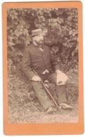 REIMS CONTREXEVILLE  PHOTO CDV PHOTOGRAPHE MARTIN BICHAIN PORTRAIT HOMME LAUNOIS MARCHE MAUCLERT A Localiser Identifier - Oud (voor 1900)