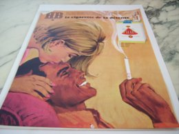 ANCIENNE PUBLICITE CIGARETTE DE DETENTE  HB 1966 - Tobacco (related)