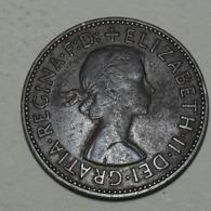 1957 - Grande Bretagne - Great Britain - HALF PENNY, ELIZABETH II, KM 896 - 1902-1971 : Monete Post-Vittoriane