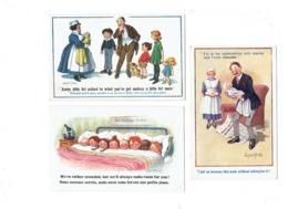 Lot 3 Cpa Illustration Humour DONALD MAC GILL - Garçon Fillette Bébé - Famille Nombreuse Chien - Mc Gill, Donald