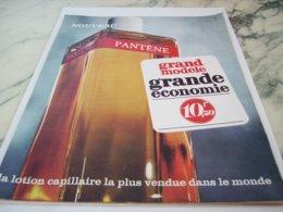 ANCIENNE  PUBLICITE GRAND MODELE DE PANTENE 1966 - Perfume & Beauty