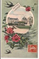 L80b126 - Souvenir De Besançon -Hotel Et Casino Des Bains Salins Dans Un Miroir Entouré De Roses - J.Liard - Besancon