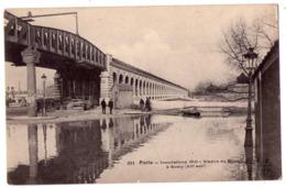 5677 - Paris ( 12e ) - ( Inondations 1910 ) - Viaduc Du Métro à Bercy - N°251 - F.F. à Paris - - Arrondissement: 12