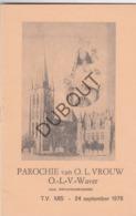 Onze Lieve Vrouw Sint Katelijne Waver - Parochie OLVrouw 1978 (R189) - Oud